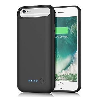 Yacikos Akku Hülle für iPhone 6/ 6S /7/8, 6000mAh Tragbare Ladebatterie Handyhülle Zusatzakku Wiederaufladbare Schutzhülle fü