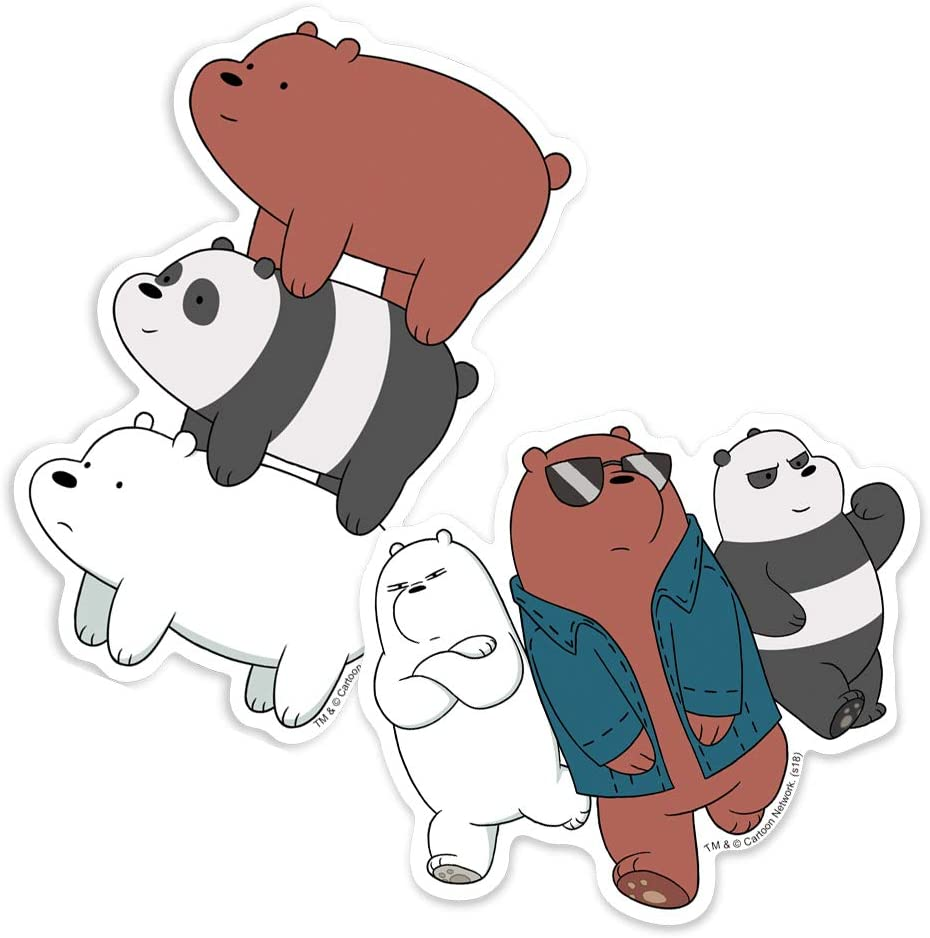 Amazon Com Popfunk We Bare Bears Grizz Ice Bear And Panda Stack Collectible Stickers Home Kitchen