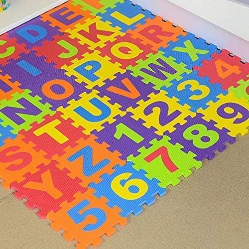 Juego Beb/é Eva Espuma Puzzle Alfombra Juegos N/úmero Entrelacables Ejercicio Azulejos Almohadilla Ni/ños Suelo Alfombra Tapete Suelo Alfabeto Puzzle Manta de Juegos Ecosway 36 Piezas