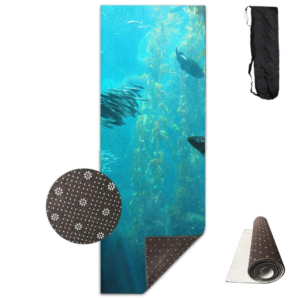 Ocean Fish in Kelp Forest Yoga Mat  Advanced Yoga Mat  NonSlip Lining  Easy to Clean  LatexFree  Lightweight and Durable  Long 180 Width 61cm