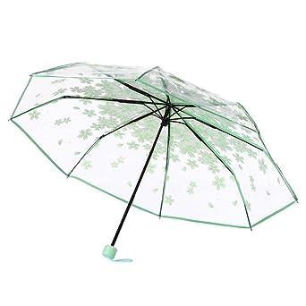 Paraguas de Mamum, transparente con diseños para escoger: de flores de cerezo, de