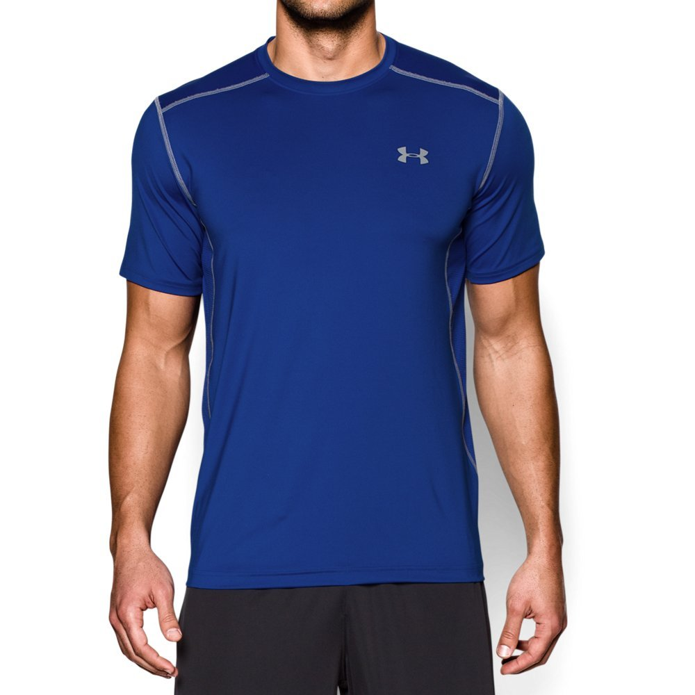 Under Armour Men's Raid S/S Tee, Royal (400)/Steel, Small by Under Armour
