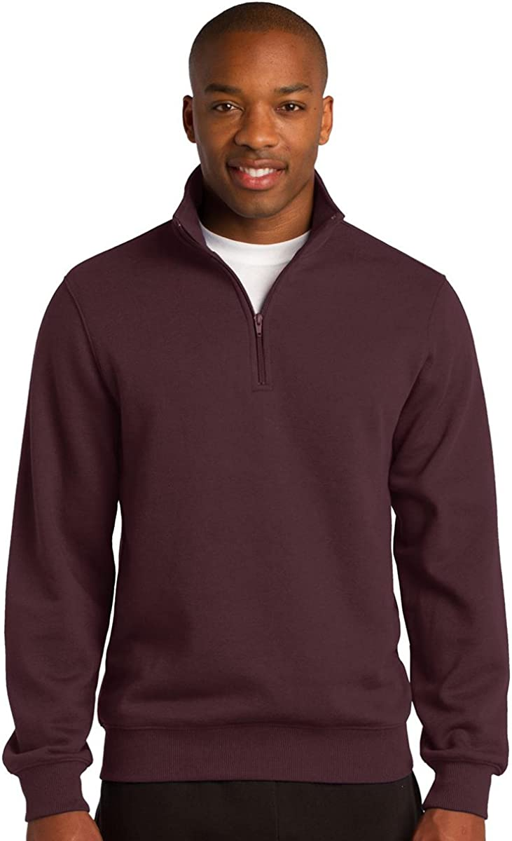 Sport-Tek Mens Big and Tall 1//4-Zip Waistband Sweatshirt