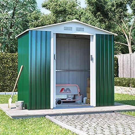 Boxer Metal caseta de jardín | Apex techo cobertizo incluyendo BASE KIT: Amazon.es: Jardín