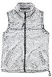 boxercraft Adult Super Soft Full Zip Sherpa Vest-Smokey Grey-XXL