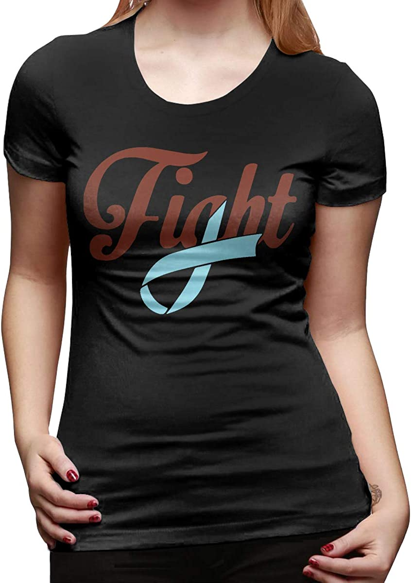 DFGHJZH-L Fight Prostate Cancer Awareness Womens Cool Short-Sleeved T-Shirts