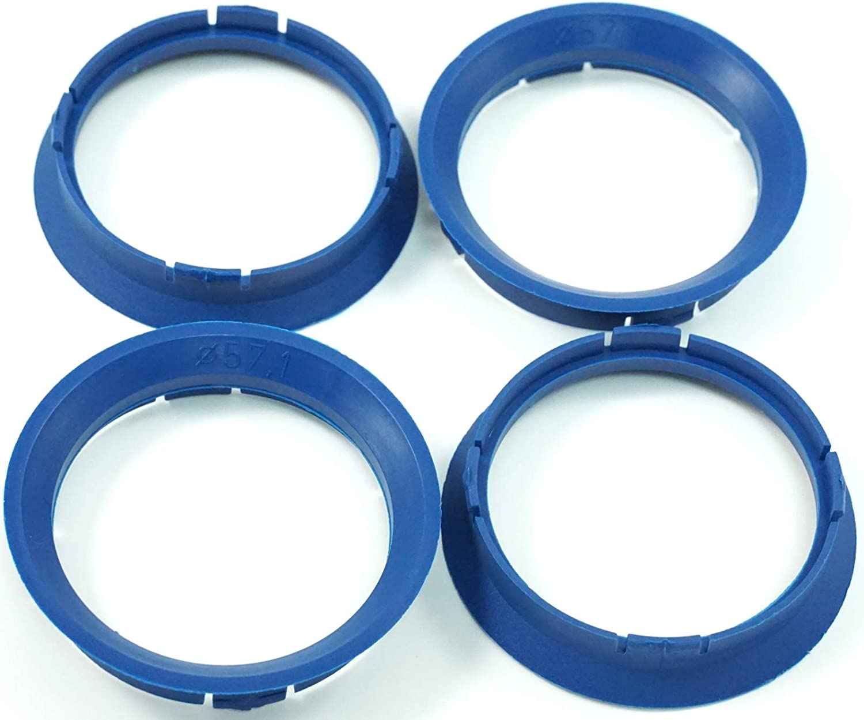 4x Zentrierringe 63 3 57 1 63 3mm Auf 57 1mm Blau Kompatibel Mit Vw Seat Skoda Audi Auto
