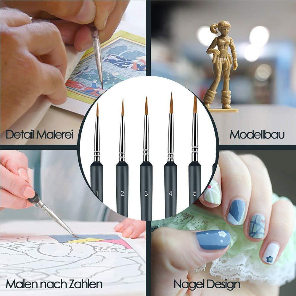 Spazzola per dettagli pennelli in acrilico 10 pezzi per pennelli in acrilico per acquerelli e pittura acrilica