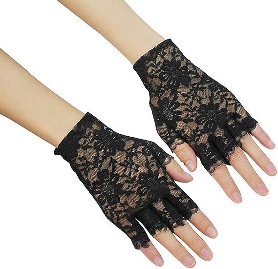 Vert Halloween Parti Poignet Mitaines résille Glove 1