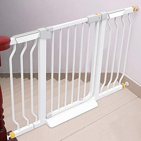 WUFENG-Barrera de seguridad Escalera Valla De Seguridad Expandible Casa Aislamiento Puerta De Mascotas Auto Cerrado, Tamaño Personalizable (Color : Blanco, Tamaño : Width 153-160cm): Amazon.es: Hogar