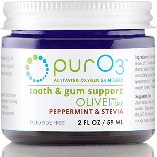 PurO3 Tooth and Gum Support Peppermint Stevia – Ozonated Oil for Teeth