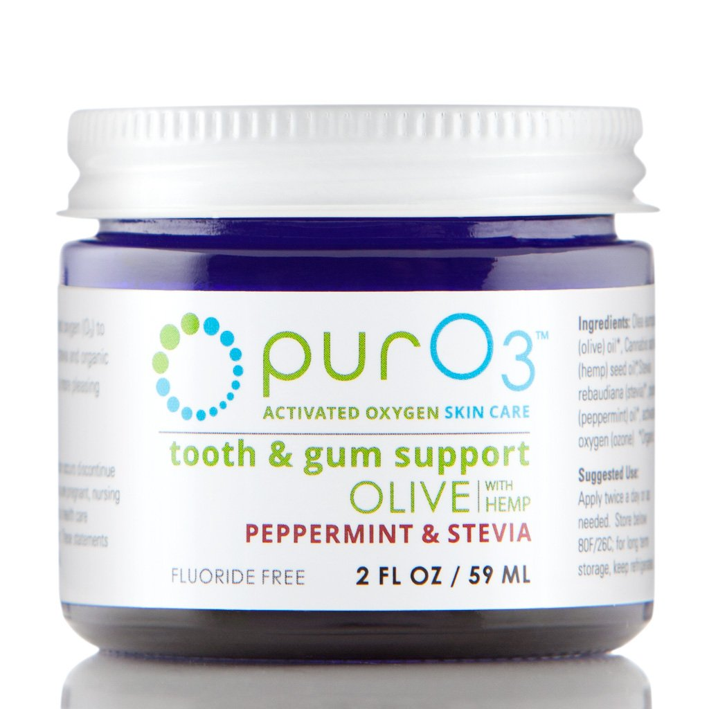 PurO3 Tooth and Gum Support (Peppermint & Stevia) - Ozonated Oil for Teeth