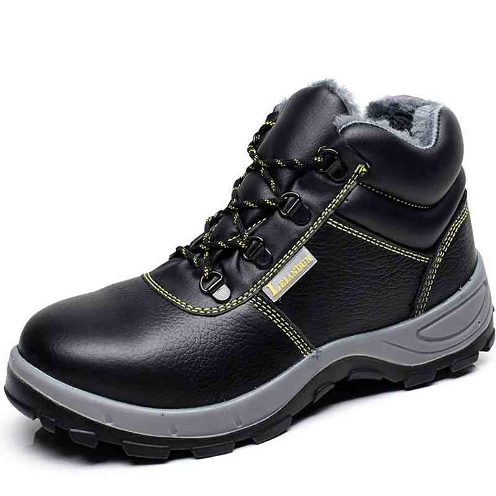 XBXZ Sicherheitsschuhe Sicherheitsarbeitsschuhe Full Grain Leder Safety Dealer Stiefel Arbeitsschuhe (Farbe : A, größe : 38)