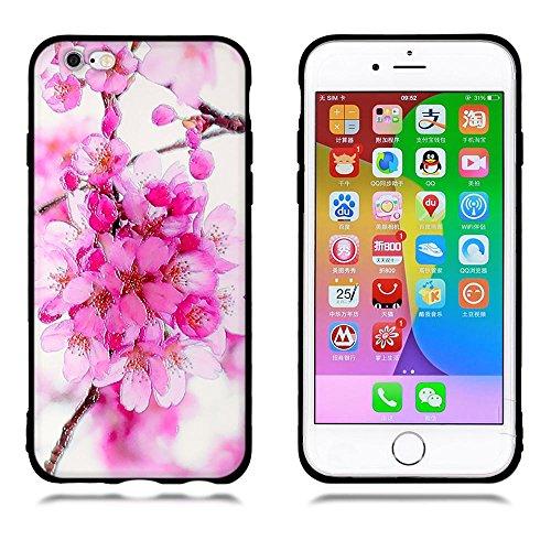 Funda iPhone 6/ 6s, FUBAODA [Flor rosa] caja del teléfono elegancia contemporánea que la manera 3D de diseño creativo de cuerpo completo protector Diseño Mate TPU cubierta del caucho de silicona suave pic: 01