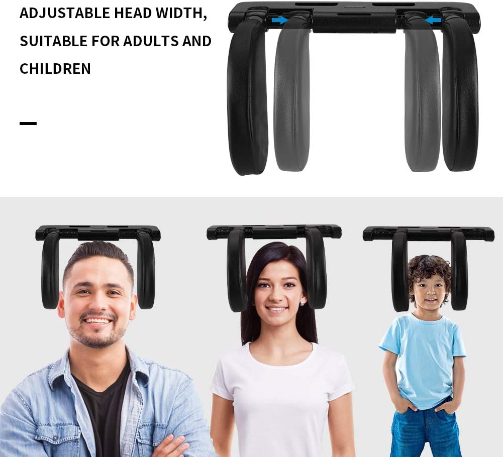 Soporte de Cuello 180/° Retr/áctil para Adultos y Ni/ños KNMY Almohada Cuello Coche con Barra Deslizante Ajustable Reposacabezas Coche