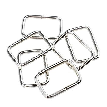 Amazon Com Flameer Set Of 40 Metal Square Buckle Rings Bag Strap