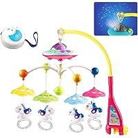 Projektionsgeschenk Baby Musikmobil Spieluhr Glocke mit Spielzeug 360 /° Drehbar f/ür Babybett und Kinderbett