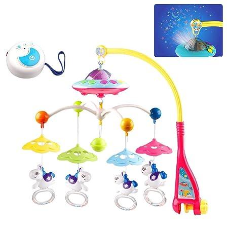 shewt Baby Crib Mobile con Luces y música Relajante. Incluye ...