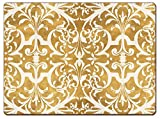 4 Cala Home Premium Hardboard Placemats Table Mats, Gilded