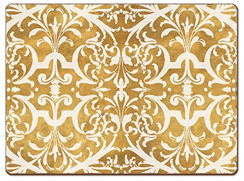 Cala Home 4 Premium Hardboard Placemats Table Mats, Gilded
