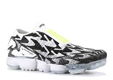 cbbcf069b65 NIKE Mens AIR Vapormax FK MOC 2 Acronym Light Bone Volt-Light Bone