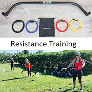 Gorilla Bow Home Gym Resistance Training Kit - Full Body Workouts - Adjustable Bands - Portable Equipment Set - Kickstarter Funded