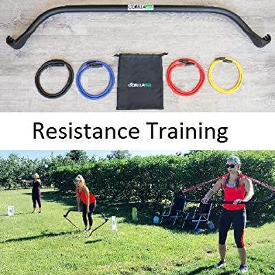 Gorilla Bow Home Gym Resistance Training Kit - Full Body Workouts - Adjustable Bands - Portable Equipment Set - Kickstarter Funded