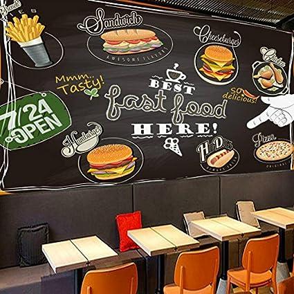HHCYY Tienda De Postres De Pizza Pizarra Color Doodle Telón ...
