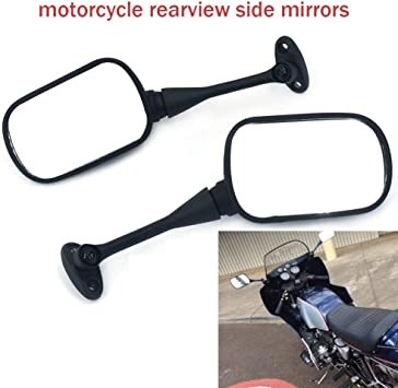 Motorcycle Rearview Side Mirrors For Honda Suzuki Sports Bike CBR600RR 1000RR US