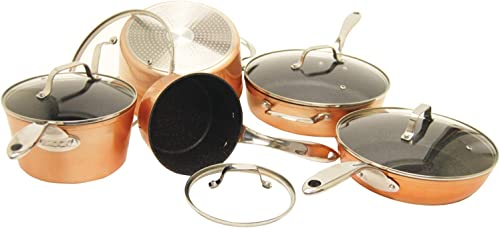 ROCK firmy Starfrit 030910-001-0000 10-elementowy zestaw naczyń kuchennych