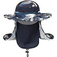 Lixada1 Sun Hat for Men&Women Outdoor Headwear Fishing Hat Sun Cap UV Protection Sun Breathable Wide Brim Outdoor Boonie…