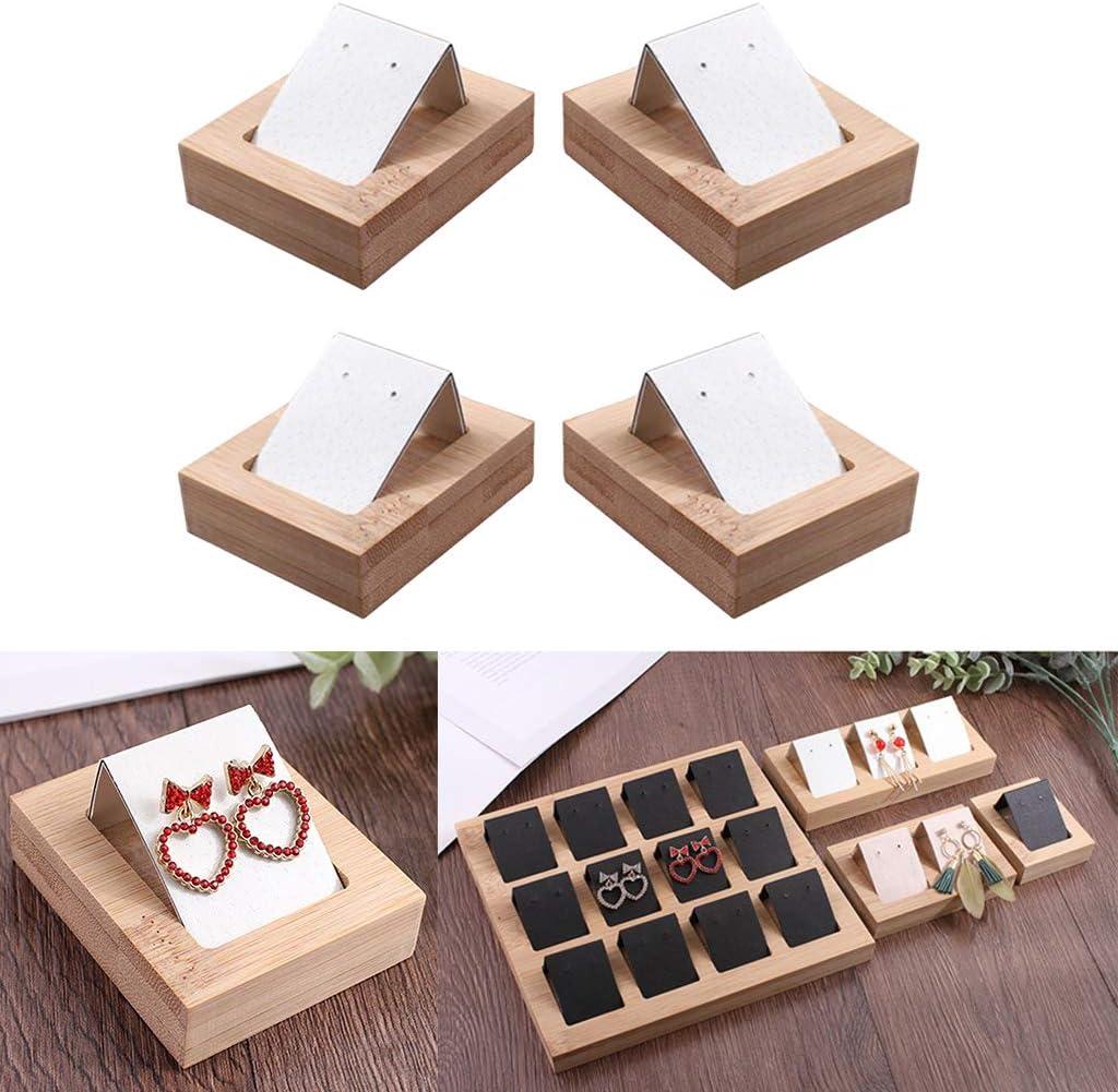 Almencla 4x Cartes Bijoux avec Plateau Cartes de Pr/ésentation /Étiquettes pour Colliers Boucles dOreilles