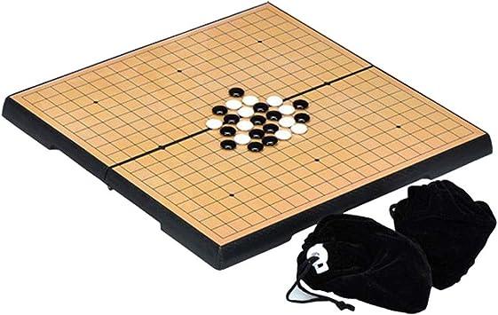 Style wei Internacional Go Set Go Junta Juego de Mesa Plegable magnético IR Junta Negro Y Negro Ajedrez 32x32cm: Amazon.es: Juguetes y juegos