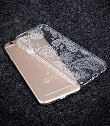 Melkco 4894522032160 Nation Amoeba TPU Taschen für Apple iPhone 6S/6 (11,9 cm (4,7 Zoll), Displayschutzfolie, Reinigungstücher) transparent