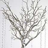 "BalsaCircle 36"" Manzanita Tree with Garlands for Wedding DIY Centerpieces"