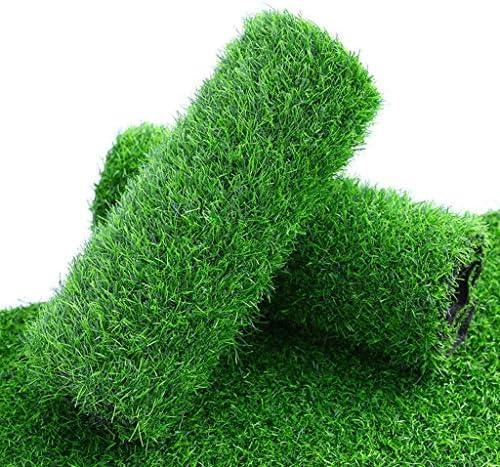 庭裏庭のテラスバルコニーに適した人工芝の芝生、2.0センチメートル厚いビロード高合成芝、排水孔屋内と屋外のペットの人工草カーペット、 (Color : Light 9FT, Size : Width 2m)