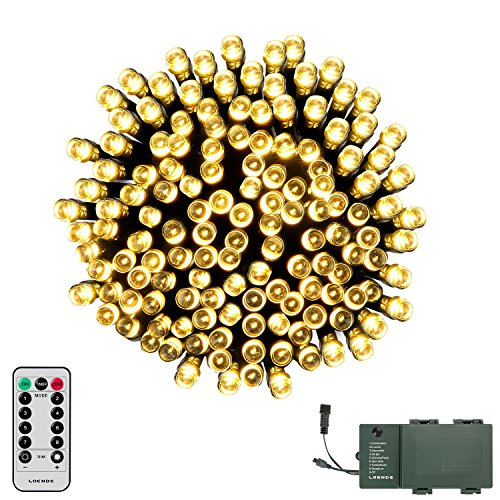 LOENDE Battery Operated String Lights, 72ft 200 LED 8 Mode Decorative String Lights Twinkle Lights with Remote and Timer for Christmas Tree, Wreath, Holiday, Garden, Party, Wedding Decorations