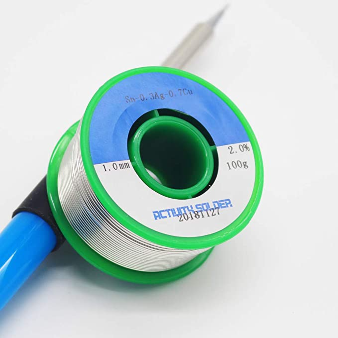 Estaño para soldar 1mm Hilo de soldadura electronica sin Plomo con Núcleo de Resina Sn99% Ag0.3% Cu0.7% 100g: Amazon.es: Bricolaje y herramientas