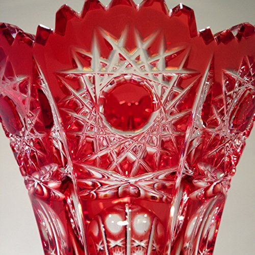 Caesar Crystal Bohemian Lead Crystal Vase Cranberry Red 61 Tall