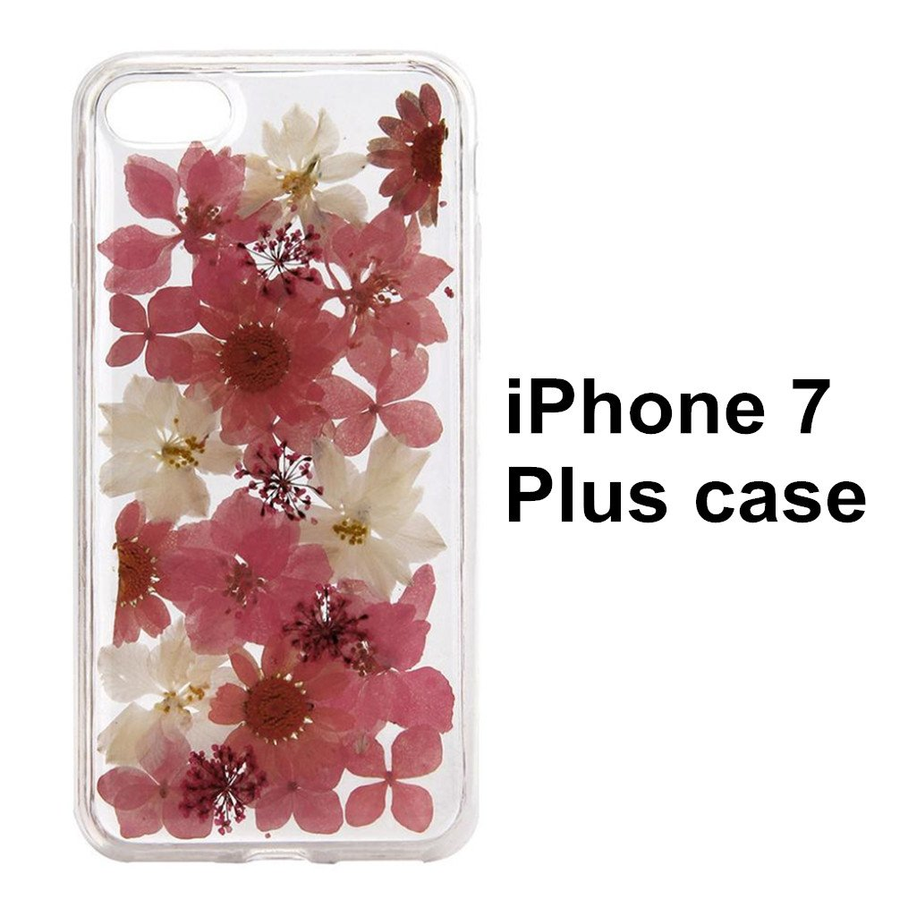 For I Phone 7 Plus Floral Case,Hp95(Tm) Dried Flowers Printed Fashion Clear Design Transparent Soft With Tpu Protective Back Case Cover For I Phone7 Plus 5.5 Inch by Hp95(Tm)
