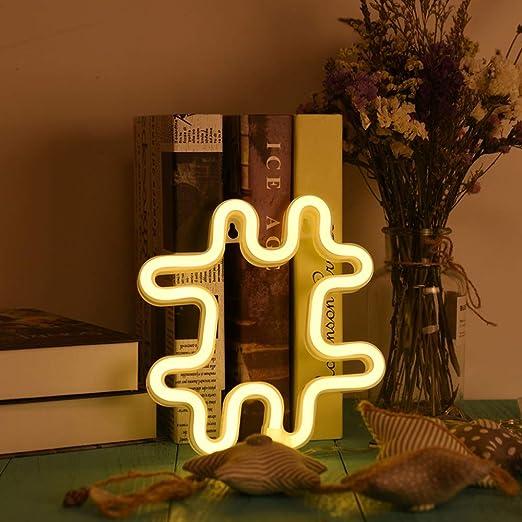 Letrero De Neón LED 26 Letras Luz De La Pared Palabra Cartel ...
