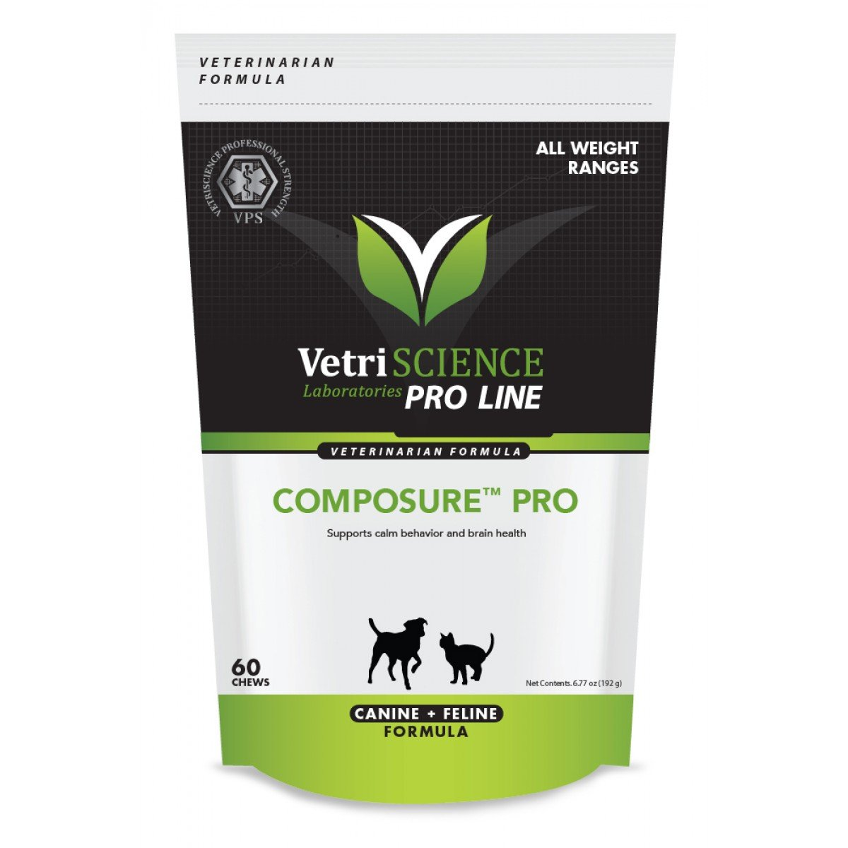 VetriScience 026664000101 Composure Pro Bite Size Chews for Dogs and Cats