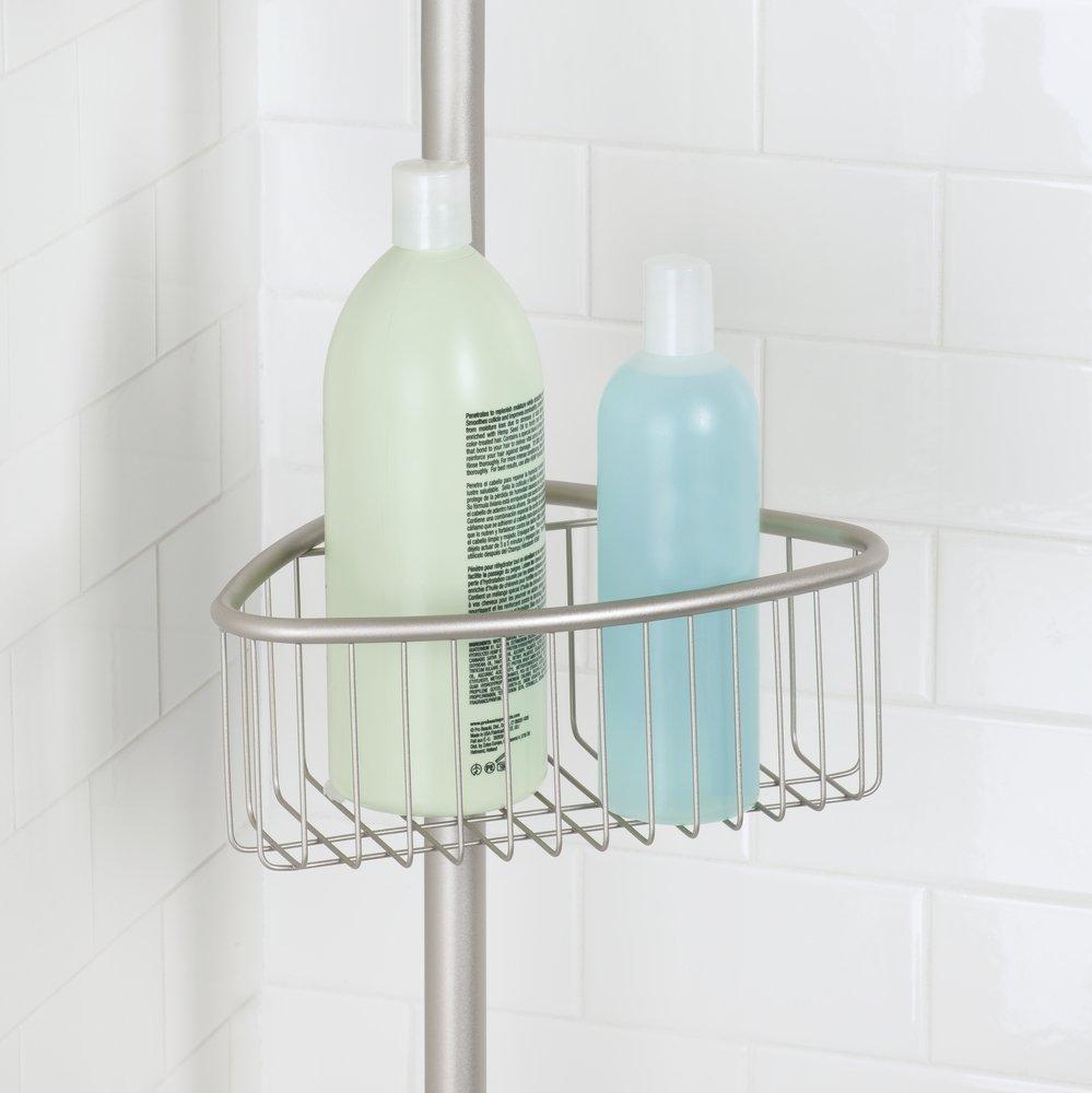 Amazon.com: mDesign Bathroom Shower Storage Constant Tension Corner ...