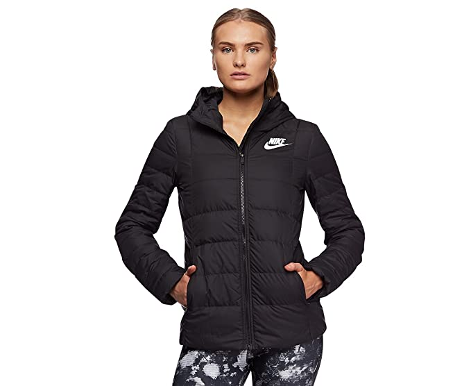 ecc96979c Nike Women's Sportswear Down Fill Hooded Jacket Black: Amazon.com.au ...