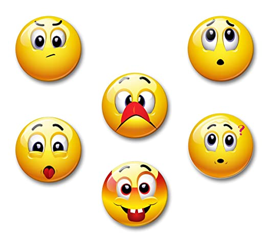 Smiley hacer humor - 6 imanes para nevera 5,9 cm | 06: Amazon.es ...