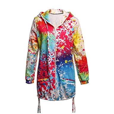 Coloré Chaud Teinture Femme Chic veste Hiver Imprimer Aimee7 gqHRZvW