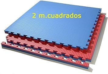Grupo Contact Lote 2 MTS Colores de 4 cmts. Rojo//Azul Cuadrados Suelo Tatami