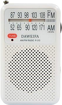 Radio Am FM, radios portátiles alimentados por batería con Antena ...