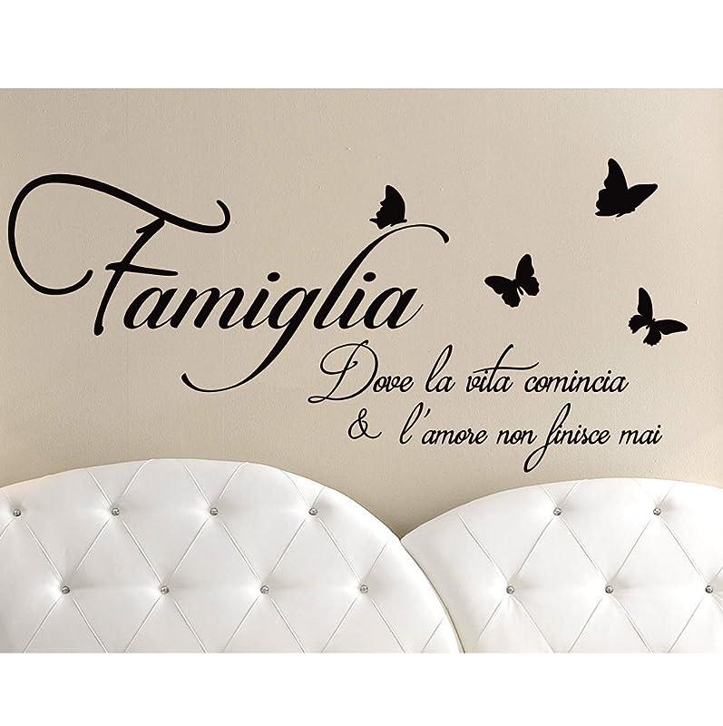 Adesivi Murali Frasi Famiglia Dove La Vita Comincia Wall Stickers