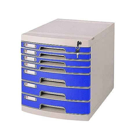 File cabinets Armario de Archivo, cajón de plástico de Siete Capas con archivador de Archivo